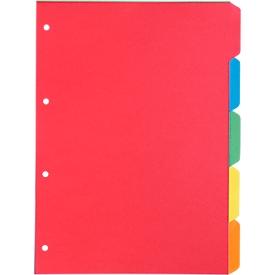 Schäfer Shop Select set económico de índices de tarjetas, 4 agujeros, cartón reciclado de 160 g/m², colores surtidos, 5 piezas