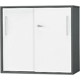 Schäfer Shop  Select SET UP aanbouw-/opzetschuifdeurkast, 2 OH, B 800 x D 420 x H 726 mm, grafiet/wit