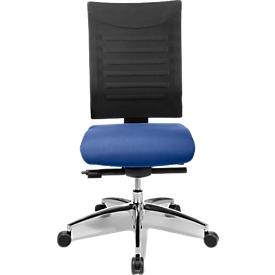 Schäfer Shop Select Silla de oficina SSI PROLINE S3+, mecanismo sincronizado, sin reposabrazos, respaldo de malla 3D, articulación de asiento 3D, azul/negro