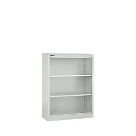 Schäfer Shop Select Stahlregal MS iCONOMY, 3 Ordnerhöhen, B 800 x T 400 x H 1215 mm, lichtgrau RAL 7035