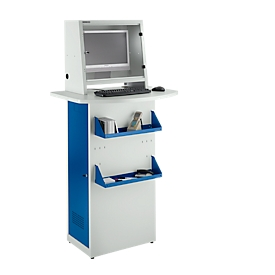 Schäfer Shop  Select Stalen PC-kast, L 600 x D 400 x H 1728 mm