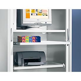 Schäfer Shop  Select Uitschuifbaar legbord, lichtgrijs, 1200 mm breed