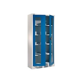 Schäfer Shop  Select Universele kast MSI-ST 2409 met zichtvenster, aluminium zilver/gentiaanblauw