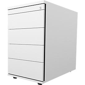 Schäfer Shop  Select Vast ladeblok 13333, 1 materiaallade, afsluitbaar, 3 schuifladen, B 428 x D 800 x H 740 mm, lichtgrijs