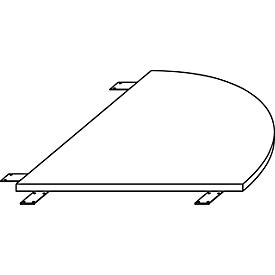 Schäfer Shop Select Verkettungsplatte LOGIN, gerundet, für C-Fuß Schreibtisch LOGIN, B 800 x T 800 x H 740 mm,