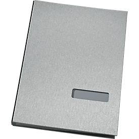 SCHÄFER SHOP Unterschriftenmappe, 20 Fächer, Karton/Stoff, silbermetallic