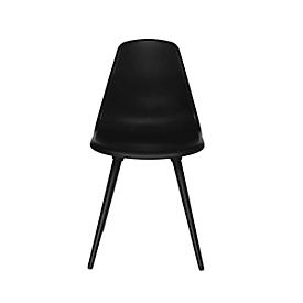 Schalenstuhl Topstar® T 2020, 4-Fuß, desinfektionsmittelbeständig, ohne Armlehnen, schwarz/schwarz