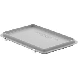 Scharnierdeckel EF-D 32 S für Kasten im EURO-Maß, grau