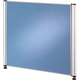 Scheidingswand CLUBWORK, smal, B 530 x D 22 x H 450 mm, lichtblauw