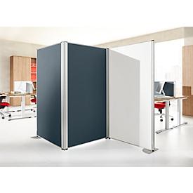 Scheidingswand geluidsisolatie systeem 40, akoestische & visuele afscherming, B 800 x H 1200 mm, grijs