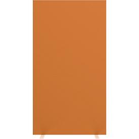 Scheidingswand ruimtescheiding Paperflow, met geluidsisolerend schuimvlies, B 940 mm, oranje