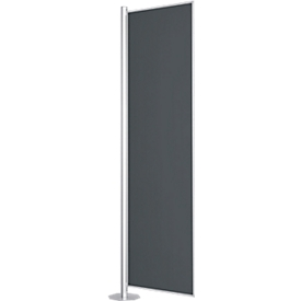 Scheidingswand, Silent Line Plus, 800 x 2000 mm, donkergrijs