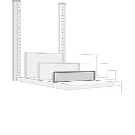 Scheidingswand, vrijstaand, voor archiefrekdiepte 400 mm, H 100 mm