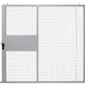 Schiebetor, für Gittertrennwandsystem, B 2238 x H 2110 mm, hellsilber