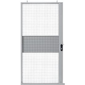 Schiebetür, für Gittertrennwandsystem, B 1110 x H 2110 mm, hellsilber