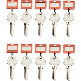Schlüsselanhänger, 10 Stück, rot