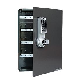 Schlüsselschrank, Elektronikschloss, 46 Haken, anthrazit