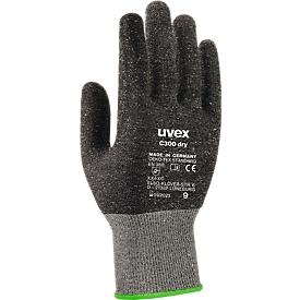 Schnittschutzhandschuhe uvex C300 dry, Bambus-Viskose/Glas, Klasse 3/C, EN 388:2016 XX4XC, 10 Paar, Gr. 11
