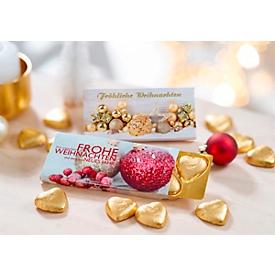 Schokoladenherzen Goldsterne, ca. 25 g, Vollmilch