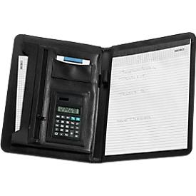 Schreibmappe mit herausnehmbarem Taschenrechner, DIN A4 Schreibblock, liniert