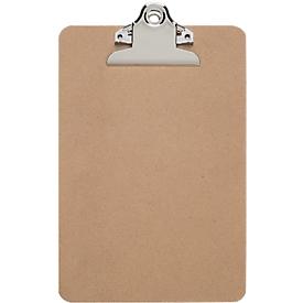 Schreibplatte MAULclassic, A5 Hochformat, Nostalgieklemmer, Hartfaserholz, braun