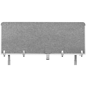 Schreibtisch-Akustik-Trennwand BE Safety Screen Rückwand, ohne Acrylfenster, Dicke 10 mm, B 120 x H 60 mm, hellgrau
