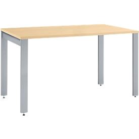 Schreibtisch LOGIN, 4-Fuß, Rechteck, B 1200 x T 800 x H 740 mm, Ahorn Dekor