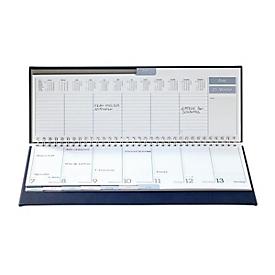 Schreibtisch-Querkalender Tucson, 120 Seiten, Wire-O-Bindung, B 300 x T 15 x H 140 mm, Werbedruck 250 x 15 mm, rotbraun, Auswahl Werbeanbringung erforderlich