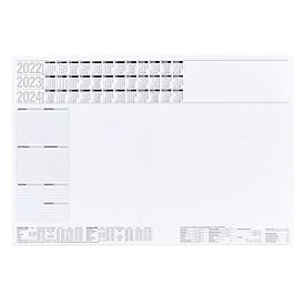 Schreibtischunterlage, 50 Seiten, ohne Kunststoffleiste, B 600 x H 400 mm, Werbedruck 210 x 90 mm, Auswahl Werbeanbringung erforderlich
