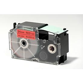 Schriftbänder, Casio, XR-24RD1, 24 mm, rot