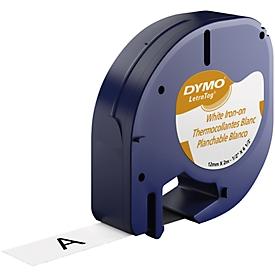 Schriftbandkassette für DYMO® Letra tag, Aufbügelschrift, 12 mm, weiß