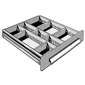 Schubladeneinsatz mit 9 Fächern