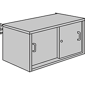 schuifdeurkast, B 1000 x D 400 mm