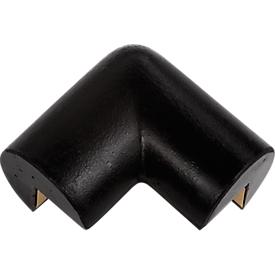 Schutzecke, 2-schenkelig, schwarz