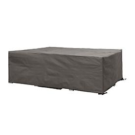 Schutzhülle für Loungemöbel, Profiausführung klein, quadratisch, L 1400 x B 1400 x H 700 mm, hellgrau