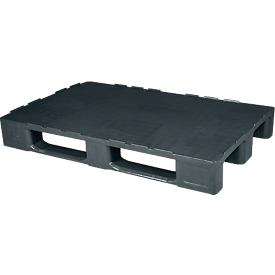 Schwerlastpalette FP-HDK1208S, Tragkraft 5000/1250/500 kg, geschlossenes Oberdeck, 3 Kufen, L 1200 x B 800 x H 155 mm, Recycling-HDPE, 5 Stück