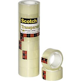 Scotch® Transparenter Klebefilm 550, 8 Stück, 19 mm x 10 m