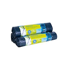 Secolan® afvalzakken, materiaal recycling-polyetheen, 120 liter, blauw, 10 stuks