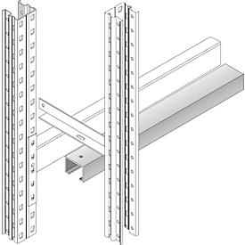 Seguro de deslizamiento, galvanizado, anchura interior de cuerpo 1900mm, p. estantería para palets PR