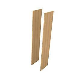 Seitenblenden PHENOR, 5 OH, 2 Stück, H 2140 x B 30 x T 430 mm, Buche-Dekor