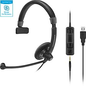 Sennheiser headset SC 45 USB MS, dubbele aansluitingen, kabelaansluiting, eenzijdig