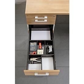 Separador BARI, para archivador con ruedas/auxiliar, 2 separadores transversales y 3 longitudinales