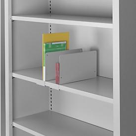 Separador estantes para armarios SSI Schäfer, desplazable, P 360 x Al 170mm, acero, gris luminoso RAL 7035