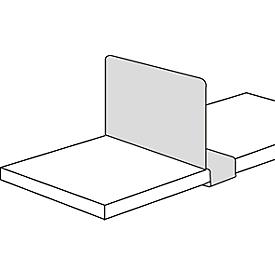 Separador estantes, para estantería de acero PROGRESS 2000, desplazable, P 300mm