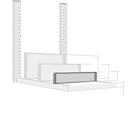 Separador, independiente, para estanterías P 500mm, Al 100mm