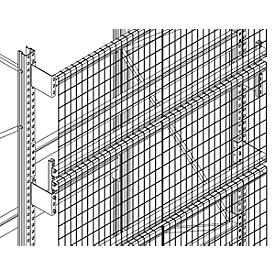 Set de pared trasera de rejilla, p. Al 2500 y P 850mm, anchura 1900mm, incl. accesorios