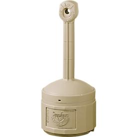 Sicherheits-Standascher, robuster, brandhemmender Kunststoff, Innenbehälter 15 Ltr., beige