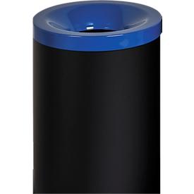 Sicherheitsabfallbehälter Grisu Color, 50L, schwarz/blau
