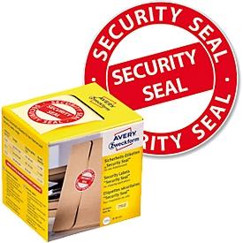 Sicherheitsetiketten Avery Zweckform Security Seal, manipulationssicher, 125 Stück, rund