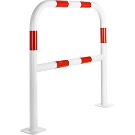 Sicherheitsgitter, zum Aufdübeln, L 1000 mm, weiß/rot